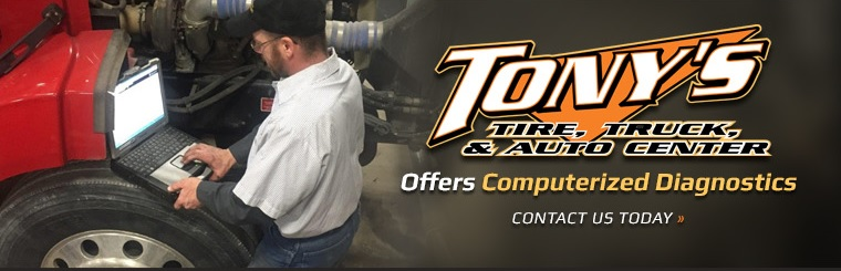 Tony's Tire, Truck, & Auto Center offers computerized diagnostics! Contact us today
