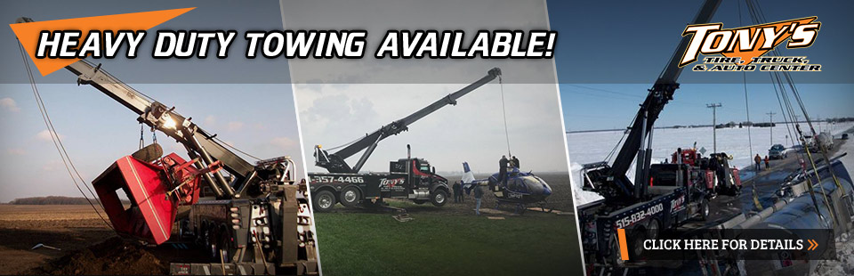 Heavy Duty Towing Available: Click here for details.