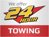 We offer 24 hour Towing