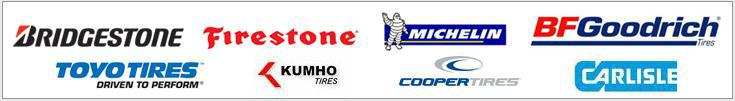 We are proud to feature products from Bridgestone, Firestone, Michelin®, BFGoodrich®, Toyo, Kumho, Cooper, and Carlisle!
