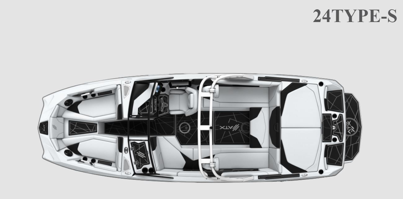 2022 ATX Surf Boats boat for sale, model of the boat is 24 Type-S Ghost Edition & Image # 8 of 8