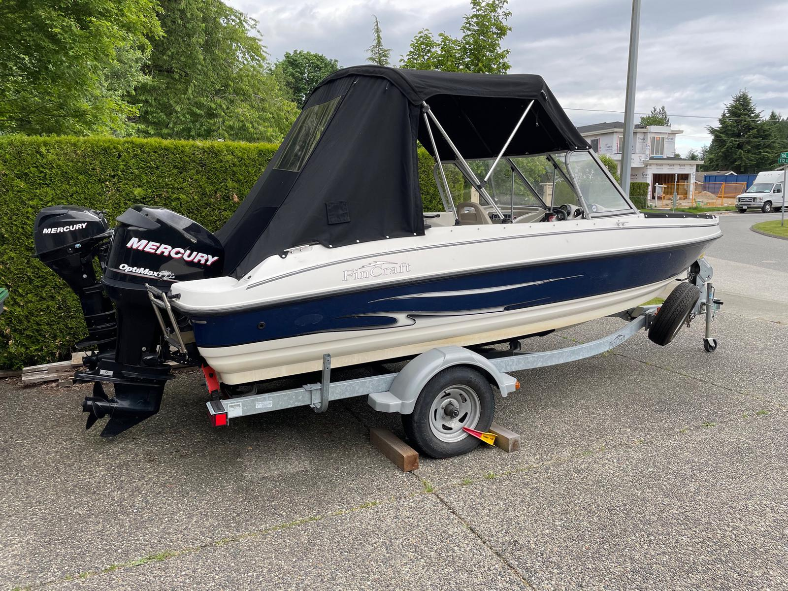2011 Larson boat for sale, model of the boat is Fincraft 1850 DC O/B & Image # 1 of 6