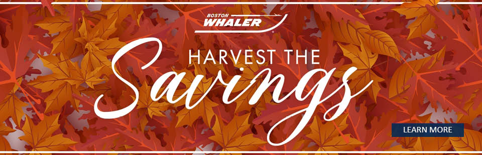 "Boston Whaler Boats ""Harvest the Savings"" event logo"