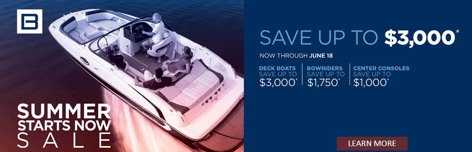 Bayliner Boat with Summer Starts Now Promotion details