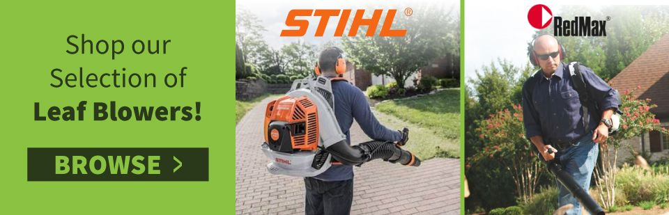 Men with STIHL and RedMax Leaf Blowers