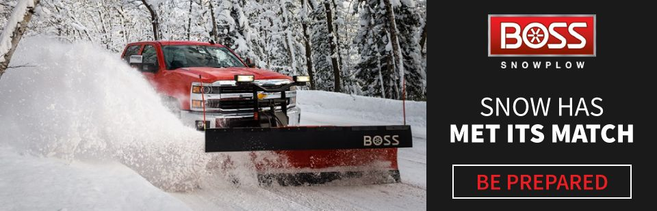 Chevy truck with BOSS Snowplow