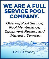 We are a full service pool company, offering pool service, pool maintenance, equipment repairs, and warranty service. Call us today!