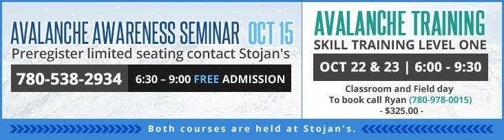 Avalanche Awareness Seminar and Avalanche Training.