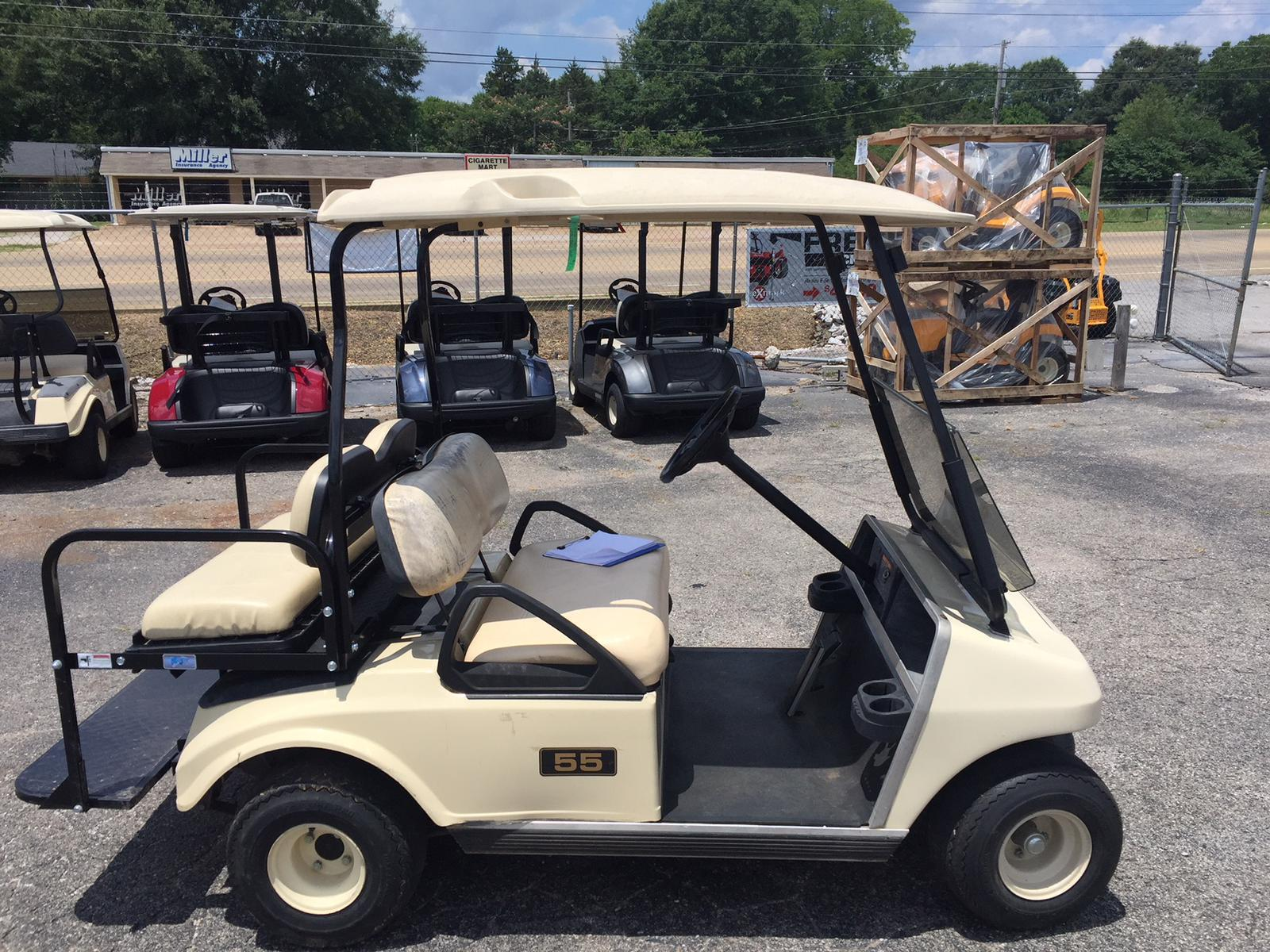 Club Car USED-2002 Club Car Golf Cart with Back Seat (Gas) for sale Golf Carts Maine Sale on golf cort, golf carts with guns, golf store sale, golf buggy, hot tub sale, bus sale, carport sale,