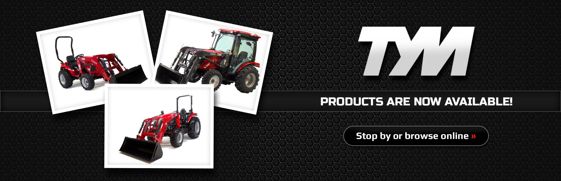 TYM products are now available! Stop by or click here to browse online.