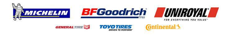 We carry great products from Michelin®, BFGoodrich®, Uniroyal®, General, Toyo, and Continental.