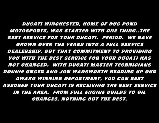 The best motosports for your Ducati