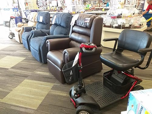 We now have scooters and power chairs from Golden Technologies