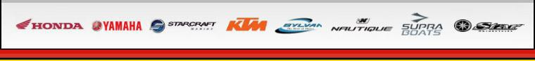 We carry products from Honda, Yamaha, Starcraft Marine, KTM, Sylvan, Nautique, Supra Boats, and Star Motorcycle.
