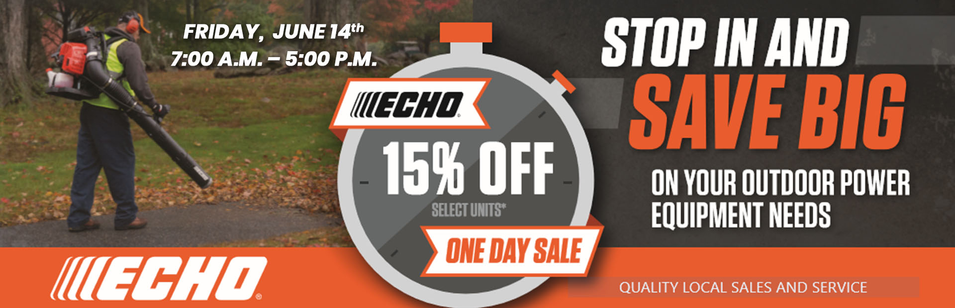 ECHO One Day Sale: 15% off select units!