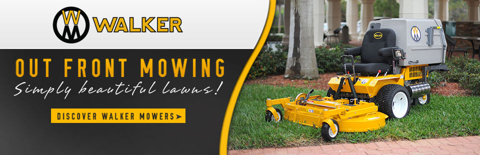 $600 off Walker Mower MT25i and $400 off Walker Mower MT23 until June 30, 2019