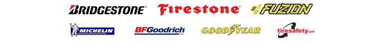 We offer products from Bridgestone®, Firestone®, Fuzion, Michelin®, BFGoodrich®, and Goodyear. Tiresafety.com.