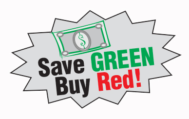Save Green, Buy Red!