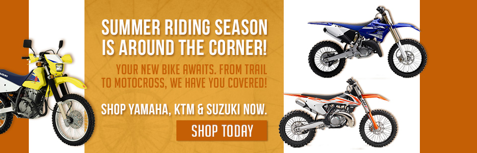 Shop Yamaha, KTM, Suzuki Off-Road Bikes in Fairbanks AK!