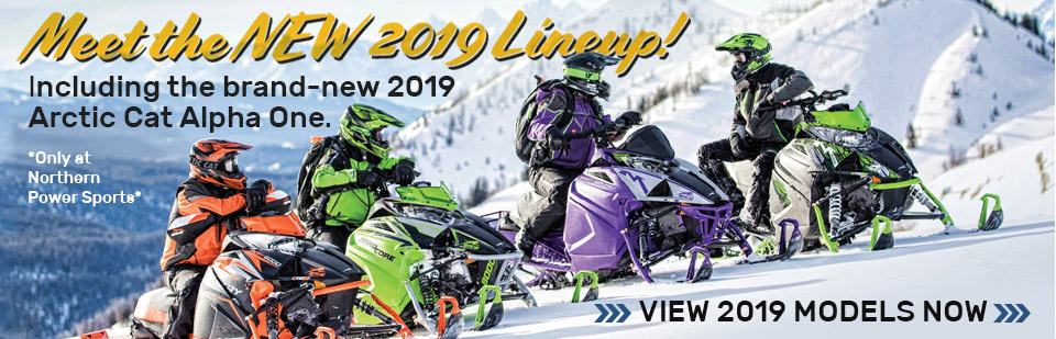 Shop New 2019 Arctic Cat Snowmobiles - only at Northern Power Sports in Fairbanks