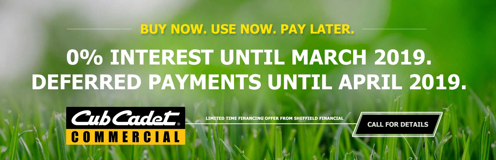 0% Interest Financing Offer