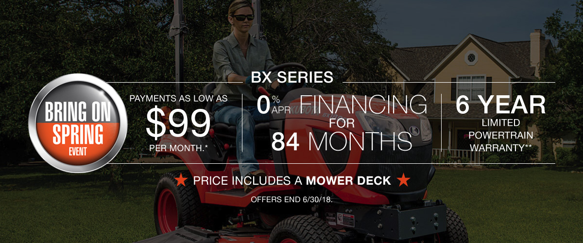 Kubota Tractors BX Series Deal