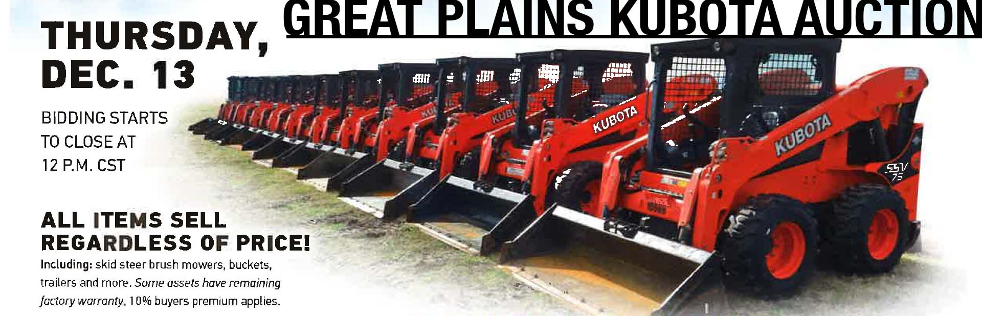 Great Plains Kubota Auction