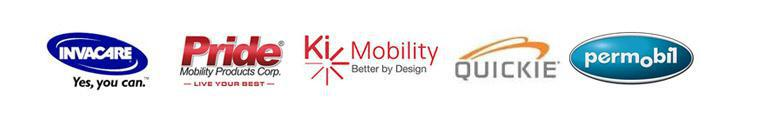 We offer products from Invacare, Pride, Ki Mobility, Quickie, and Permobil.