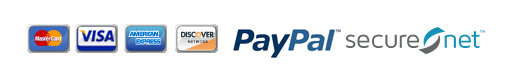MC, Visa, AMEX, Discover, PayPal and SecureNet.