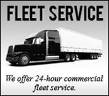 We offer 24-hour commercial fleet service.