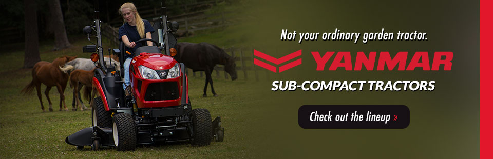 Yanmar Sub-Compact Tractors: Click here to check out the lineup!