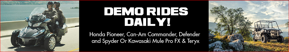 Demo Rides Daily!