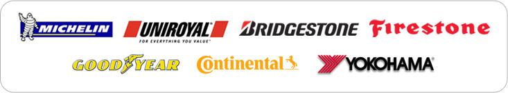 We carry products from Michelin®, Uniroyal®, Bridgstone, Firestone, Goodyear, Continental, and Yokohama.