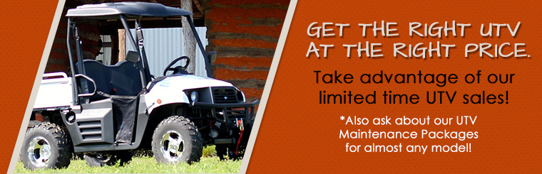UTV Specials & Maintenance Packages