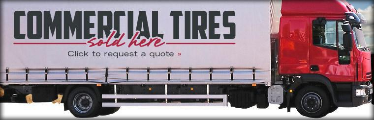 Commercial tires sold here! Click here to request a quote.