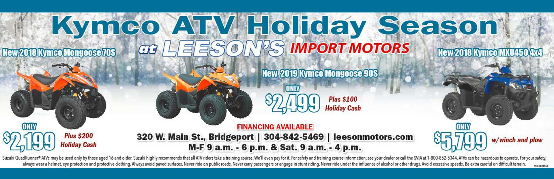 Kymco ATV Holiday Season