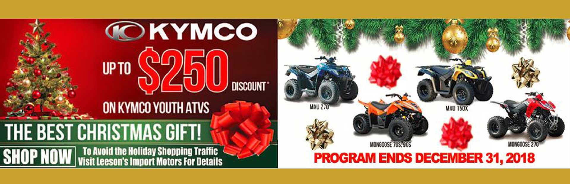 Kymco Youth Models Holiday Sale