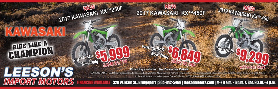 Kawasaki New Years Sales