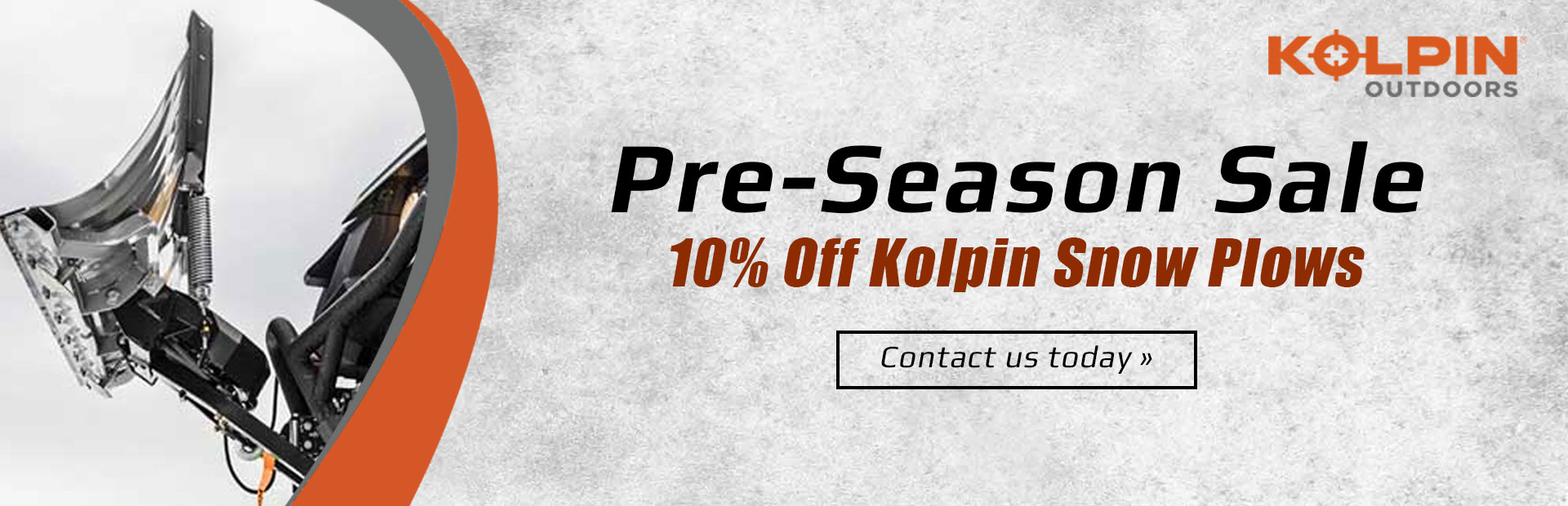 Pre-Season Sale: Get 10% off Kolpin snow plows! Contact us today for details.