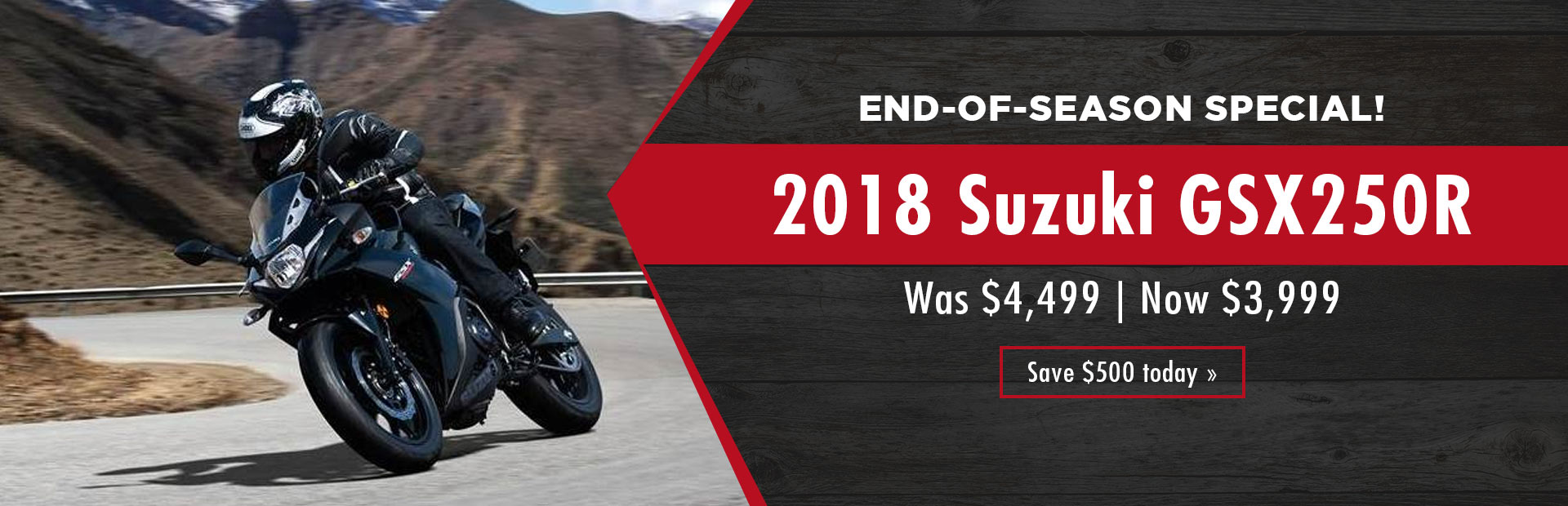 End-of-Season Special: Get the 2018 Suzuki GSX250R for just $3,999!