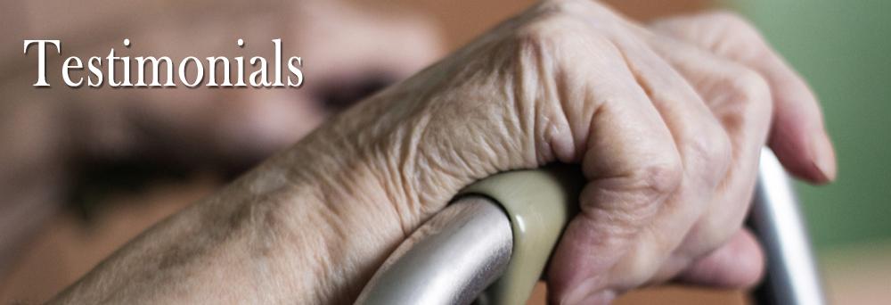 Customer testimonials at New England Home Medical Equipment, LLC