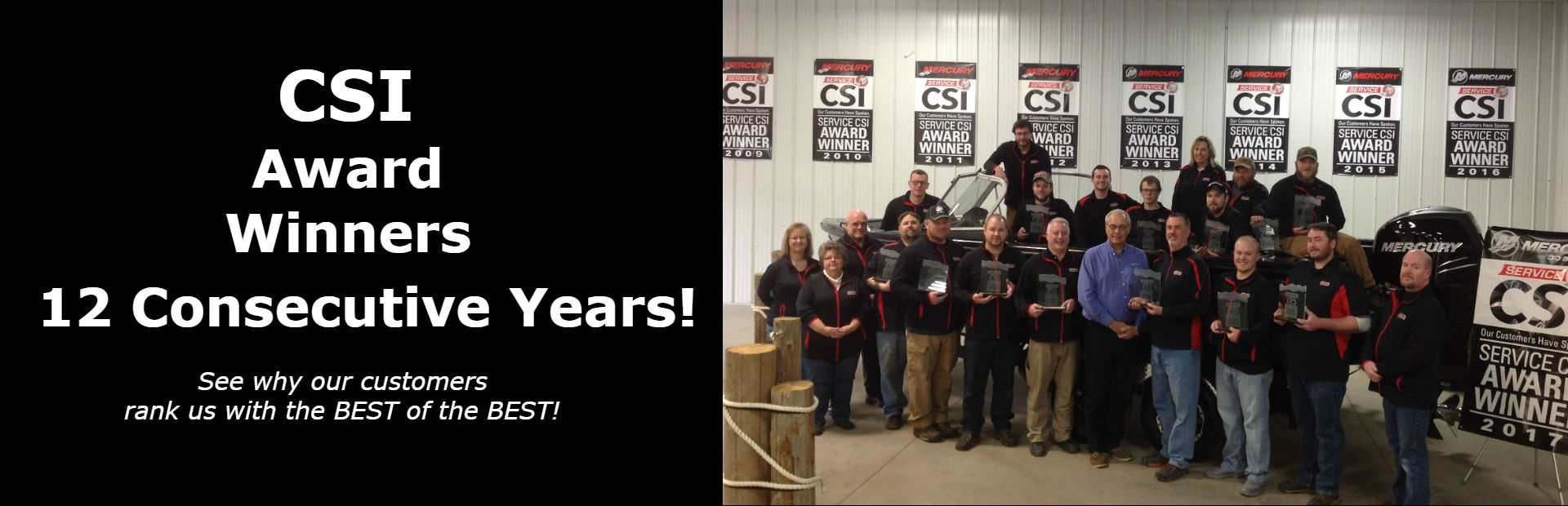 12 time CSI Award Winners