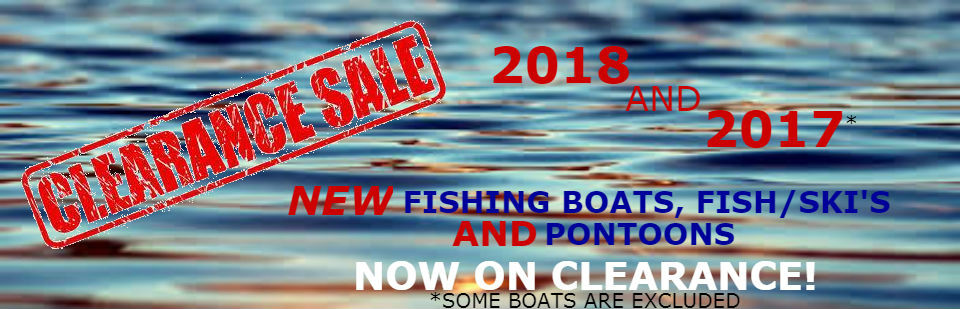 NEW BOAT CLEARANCE SALE