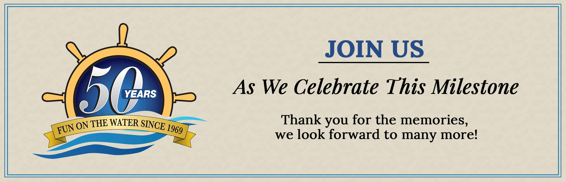 Join us as we celebrate this milestone! Thank you for the memories, we look forward to many more!