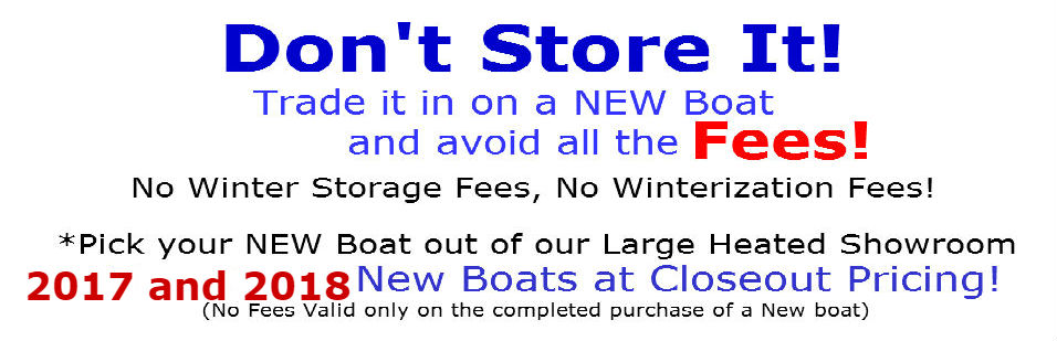TRADE IT IN AND SAVE, NEW BOAT CLEARANCE
