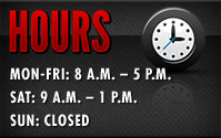 Hours: Monday-Friday: 8:00 a.m. - 5:00 p.m.; Saturday: 9:00 a.m. - 1:00 p.m. Sunday: Closed