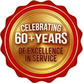 Celebrating 60+ years of Excellence in Service.