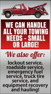 We can handle all your towing needs - small or large!