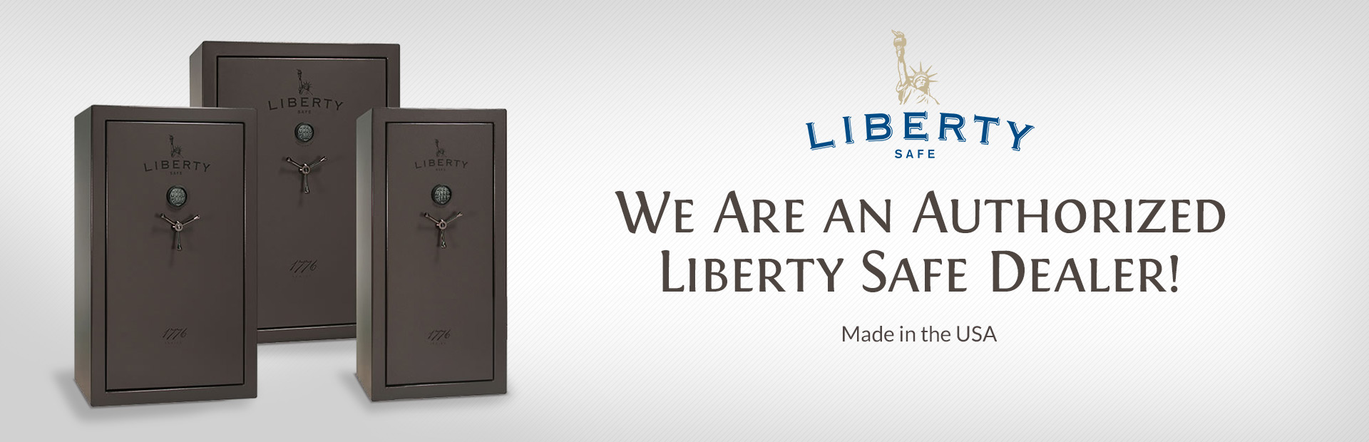 We are an authorized Liberty Safe dealer!