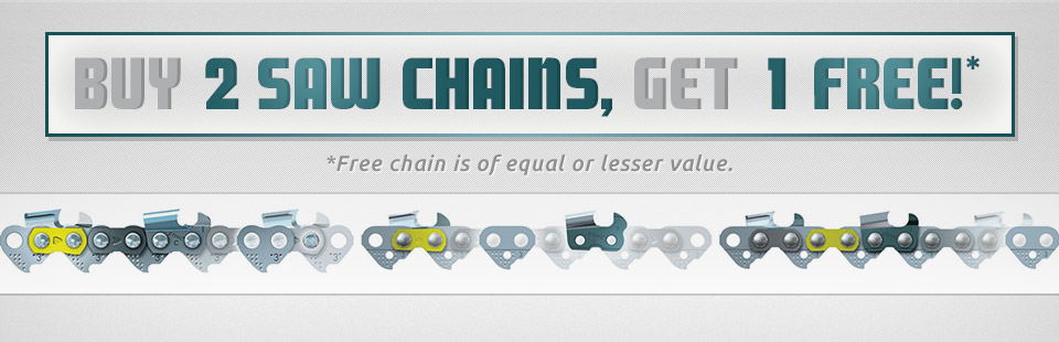 Buy 2 Saw Chains, Get 1 Free!
